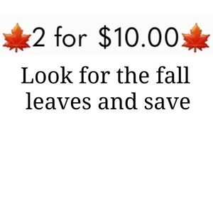 🍁2 items for only $10.00🍁